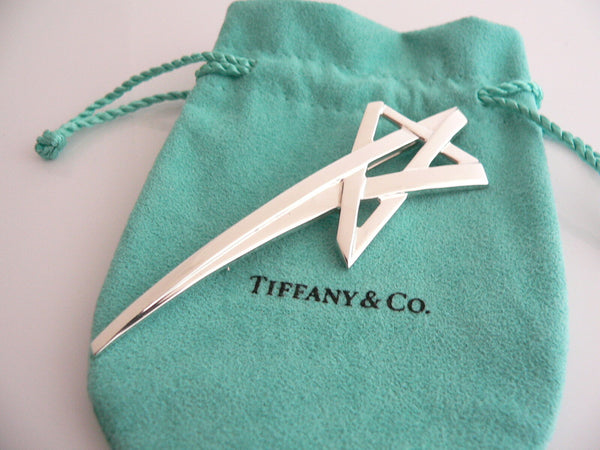 Tiffany & Co Silver Picasso Shooting Star Brooch Pin Rare Gift Pouch