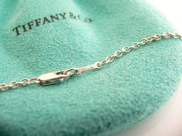 Tiffany & Co Silver XL Large Shooting Star Necklace Pendant 35 Inch Gift Pouch