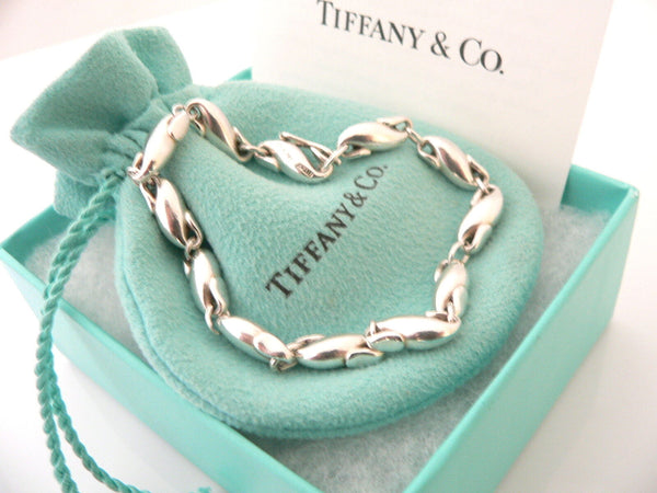 Tiffany & Co Silver Peretti Seahorse Chain Link Charm Bracelet Bangle Gift Pouch