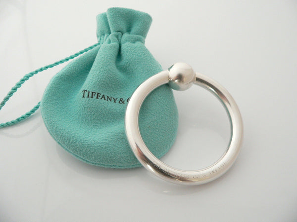Tiffany & Co Silver Circle Baby Rattle Teether Mint No Dings Gift Pouch Love