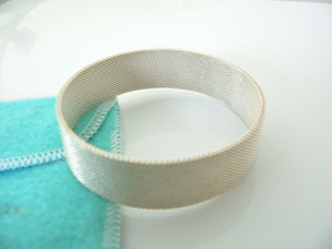 Tiffany & Co Silver Wide Somerset Mesh Weave Bracelet Bangle Gift Love Pouch