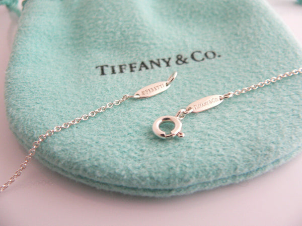 Tiffany & Co Peretti Pink Sapphire Open Heart Necklace Pendant 18.75 In Longer