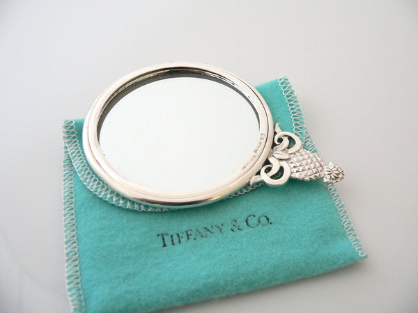 Tiffany & Co Silver Pineapple Handbag Bag Purse Mirror Vintage Rare Gift Pouch