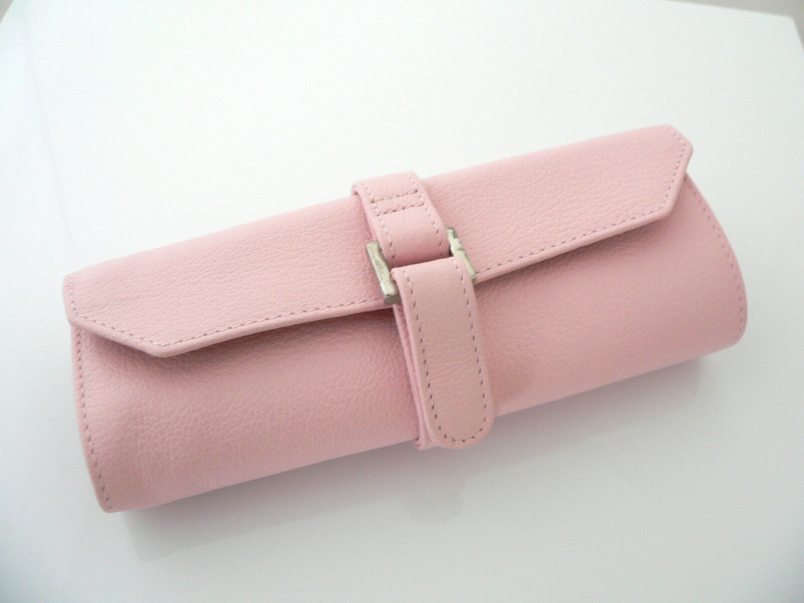 Tiffany & Co Pink Leather Jewelry Travel Purse Handbag Bag Roll Case Gift
