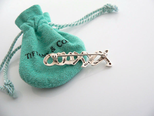 Tiffany & Co Silver Picasso XO Love Kiss Brooch Pin Gift Pouch