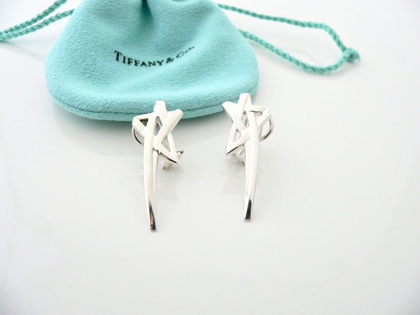 Tiffany & Co Silver Picasso Shooting Star Earrings Studs Gift Pouch Love Art