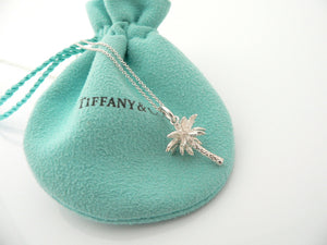 Tiffany & Co Silver Palm Tree Necklace Pendant Charm Nature Summer Gift Pouch