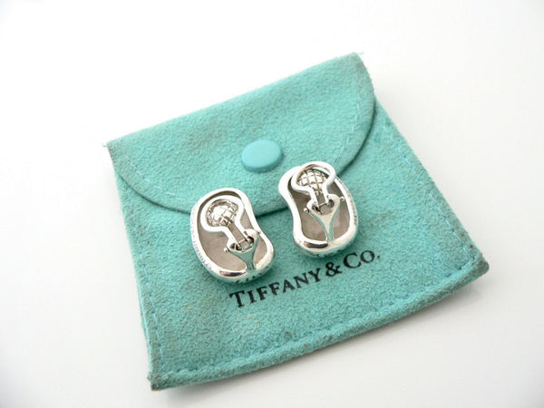 Tiffany & Co Peretti Bean Earrings Clip On Gift Pouch Love Vintage Rare