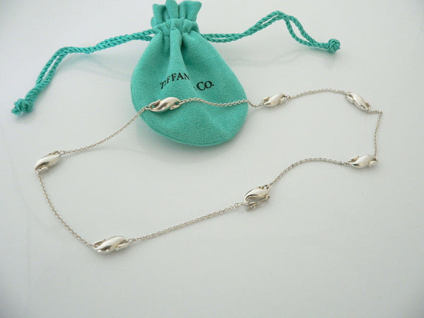 Tiffany & Co Silver Peretti Seahorse Links Necklace Pendant Charm 16.9 Inch Gift