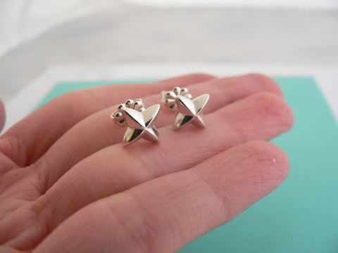 Tiffany & Co Silver Peretti Sirius Star Earrings Studs Gift Love Statement