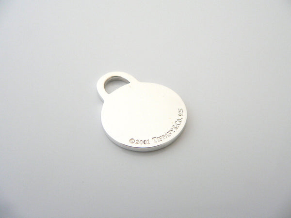 Tiffany & Co Silver Circle Charm Pendant Key Fob 4 Necklace Bracelet Gift Love