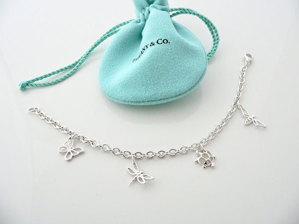 Tiffany & Co Silver Butterfly Dragonfly Bracelet Bangle Chain Gift Nature Lover