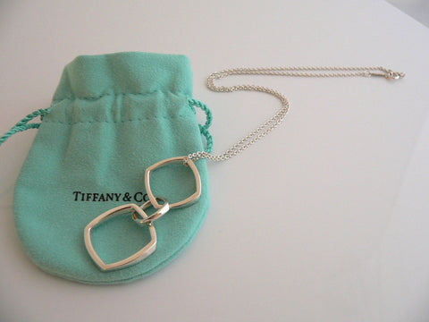 Tiffany & Co Gehry Triple Torque Drop Dangle Dangling Necklace Pendant Gift Art