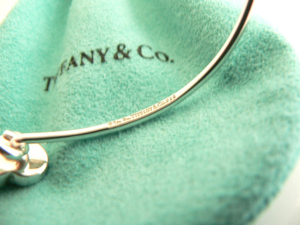 Tiffany Co Silver Picasso Diamond Modern Heart Bangle Bracelet Gift Love Pouch