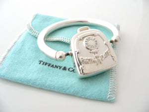 Tiffany & Co Silver Birth Date Baby Rattle Teether Rare Gift Pouch Love Heirloom