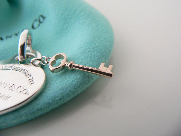 Return to Tiffany & Co Heart Key Charm Clasp Silver Rubedo Clasp Gift Pouch Love