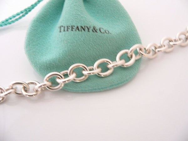 Tiffany & Co Heart Arrow Toggle Bracelet Bangle Chain Rare Pouch Gift Pouch