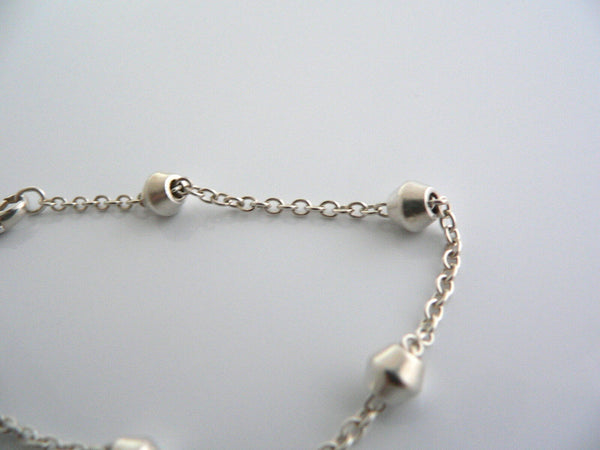 Tiffany & Co Silver Barrel Bead by  the Yard Bracelet Bangle Rare Gift Love