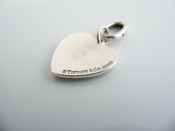 Tiffany & Co Silver Love Heart Bead Charm Clasp 4 Necklace Bracelet Gift Love