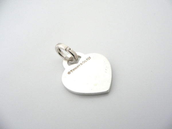 Tiffany & Co Silver Return Heart Charm Pendant Oval Clasp 4 Necklace Bracelet