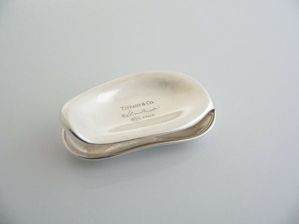 Tiffany & Co Silver Peretti Bean Money Clip Holder Engravable Gift Love