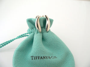Tiffany & Co Silver Gehry Nature Fish Earrings Studs Gift Pouch Love Art