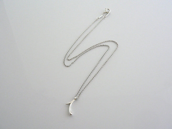 Tiffany & Co Silver Peretti Alphabet I Necklace Pendant Chain Love Gift