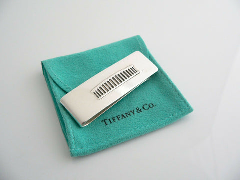 Tiffany & Co Silver Coliseum Money Clip Holder Rare Gift Pouch Love