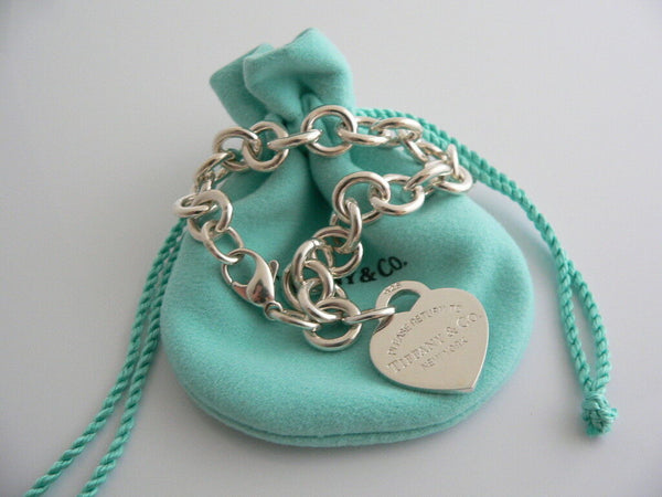 Tiffany & Co Silver Return to Tiffany & Co Heart Tag Bracelet Bangle Gift Pouch