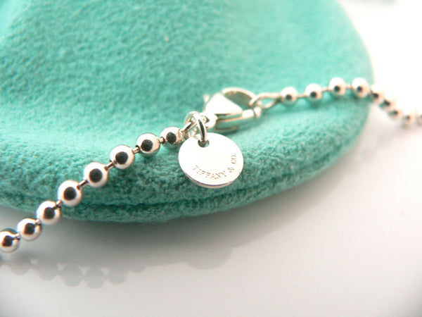 Tiffany & Co Silver XL Large Heart Arrow Pendant Necklace Charm Chain Gift Love