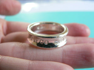 Tiffany & Co Silver 1837 Circle Ring Band Sz 5.5 Love Gift Rare Statement