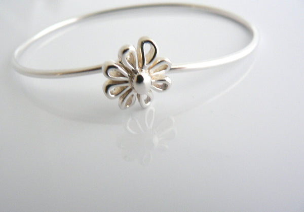 Tiffany & Co Picasso Daisy Flower Nature Bangle Bracelet Rare  Silver Gift Love