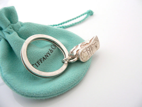 Tiffany & Co Silver Sneakers Running Shoes Key Ring Keyring Key Chain Pouch Gift
