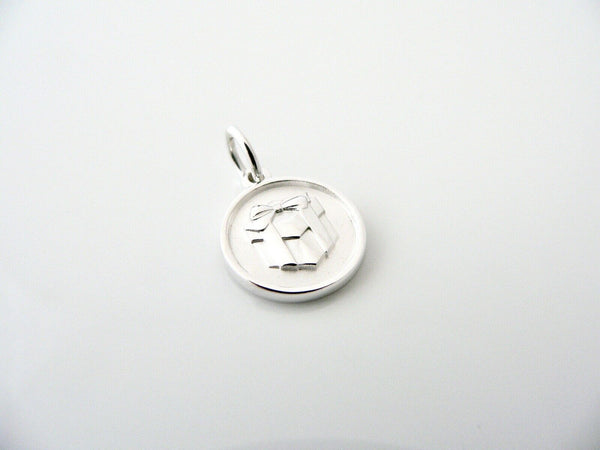 Tiffany & Co Silver Gift Box Circle Round Charm Pendant Lexicon Rare Love