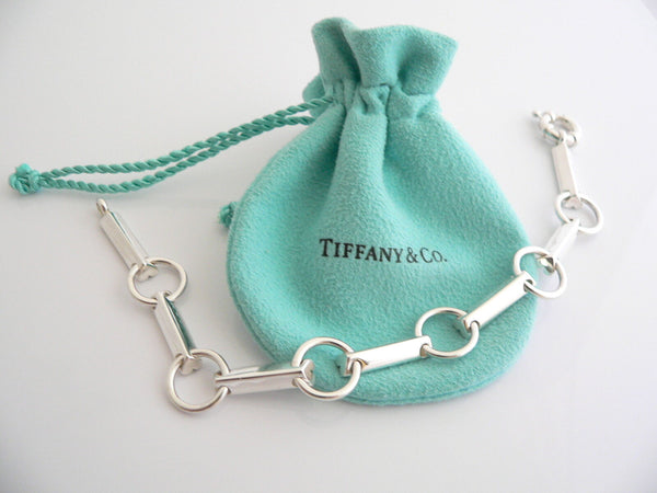 Tiffany & Co Silver Picasso Tenderness Heart Link Bracelet Bangle 7.75 Inch Gift