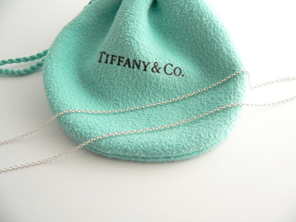 Tiffany & Co Silver Crystal Fascination Ball Bead Necklace Pendant Gift Pouch