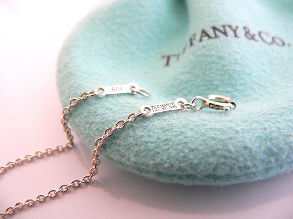 Tiffany Co Peretti Silver Large Full Heart Pendant Necklace 24 Inch Chain Gift