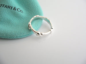 Tiffany & Co Silver Signature X Stacking Ring Band Sz 8.75 Rare Mint Gift Pouch