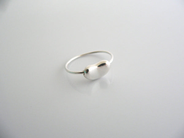 Tiffany & Co Silver Peretti Bean Ring Band Sz 6.5 Rare Gift Love