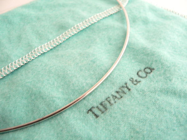 Tiffany & Co Peretti Silver Large Bean Wire Necklace Pendant Charm Gift Pouch