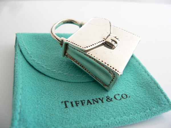 Tiffany & Co Silver Purse Handbag Pill Box Case Container Rare Vintage Antique