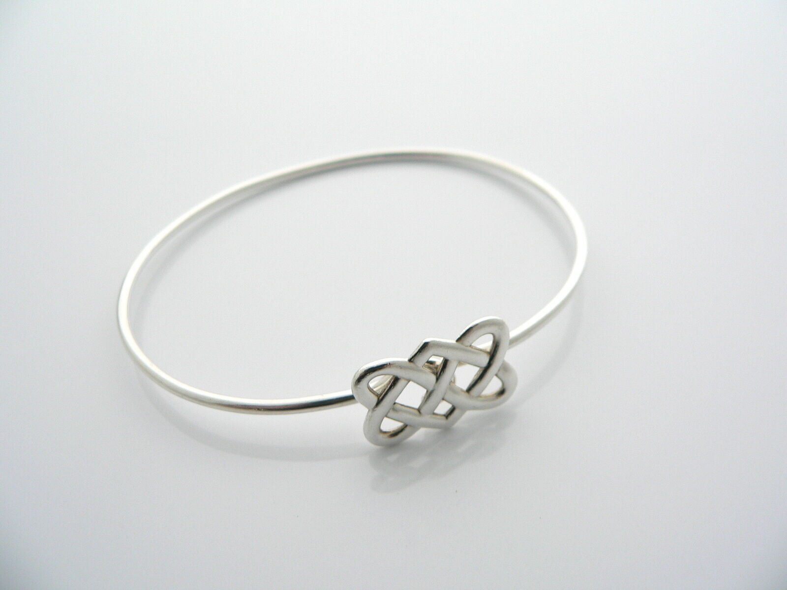 Tiffany & Co Silver Picasso Celtic Knot Bangle Bracelet Rare Gift Love