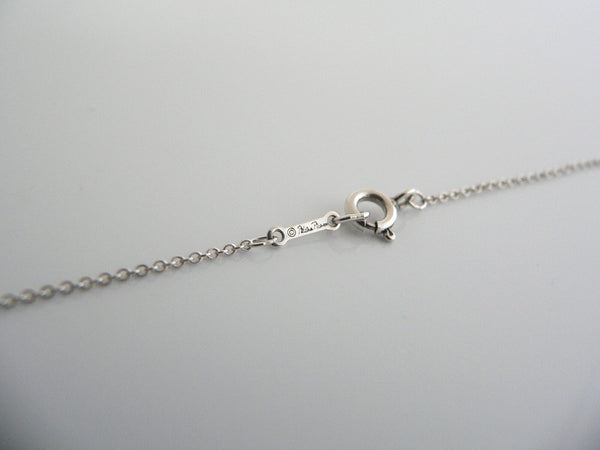 Tiffany & Co Heart Love Kiss Necklace Pendant Picasso Silver Gift 17 Inch Chain