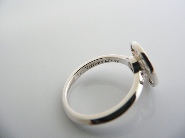 Tiffany & Co Silver Atlas Medallion Round Ring Band Sz 5 Rare Gift Statement