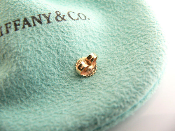 Tiffany & Co 18K Yellow Gold 6 MM Pearl Earrings Studs Classic Gift Pouch