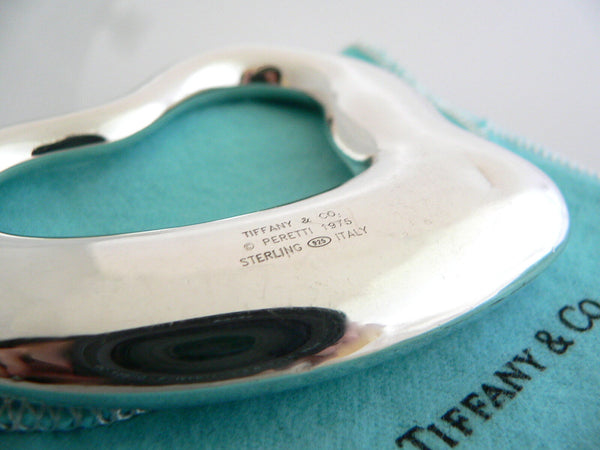 Tiffany & Co Silver Peretti Heart Rattle Teether Rare Heirloom Baby Gift Pouch