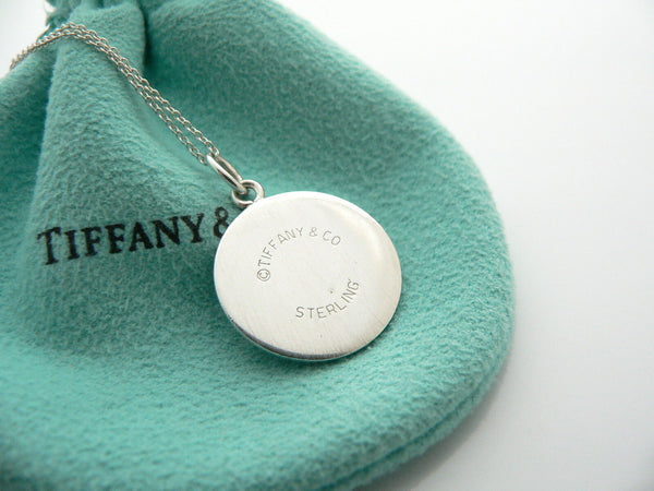 Tiffany & Co Silver Double CIrcle Necklace Pendant Charm Chain Engravable Gift