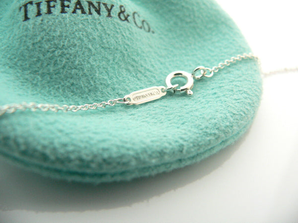 Tiffany & Co Return to Silver Black Onyx Double Heart Necklace Pendant Gift Love