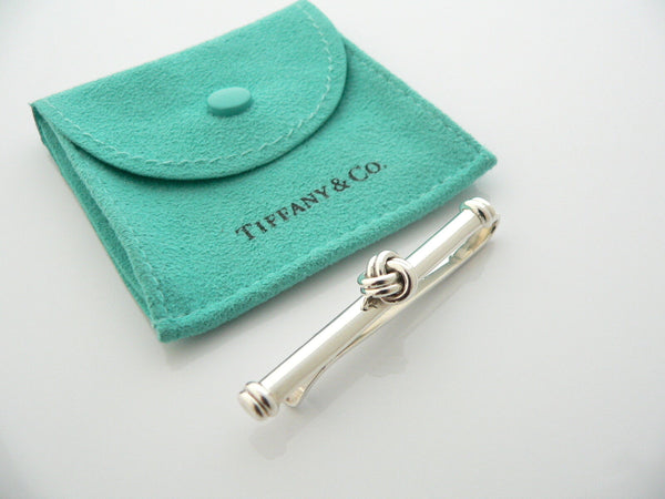 Tiffany & Co Silver Love Knot Tie Money Clip Rare Man Gift Love Pouch