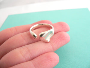 Tiffany & Co Silver Peretti Full Heart Ring Band Sz 6.75 Gift Love Statement